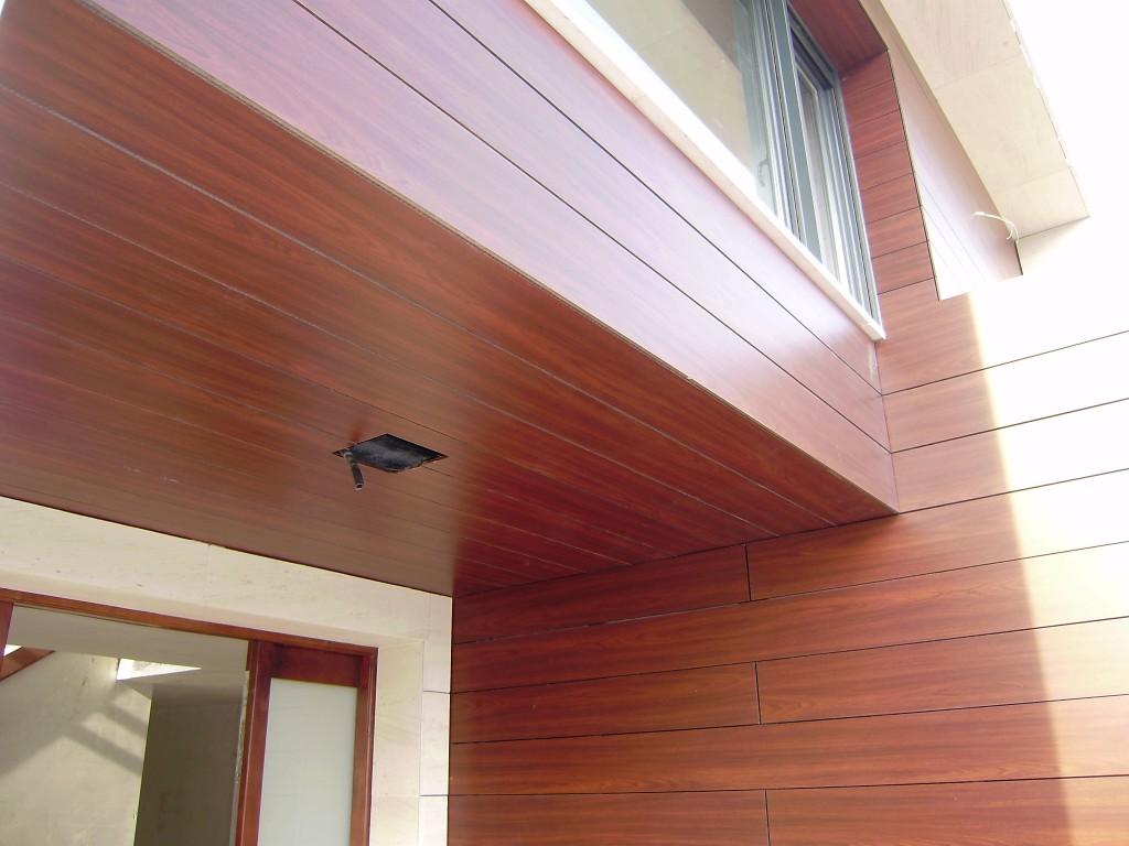 Foto de detalle fachada ventilada